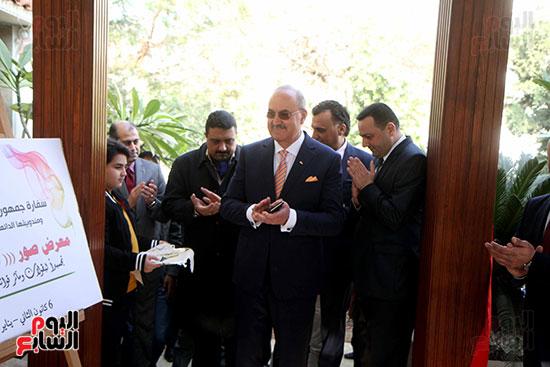 سفير العراق فى مصر وطاقم السفارة فى افتتاح احتفالية السفارة بعيد النصر