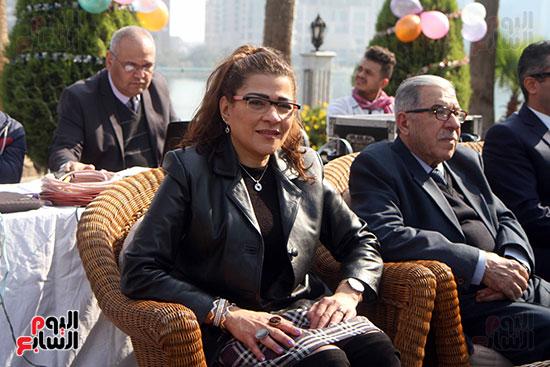 الكاتبة فاطمة ناعوت فى احتفالية السفارة العراقية بالقاهرة
