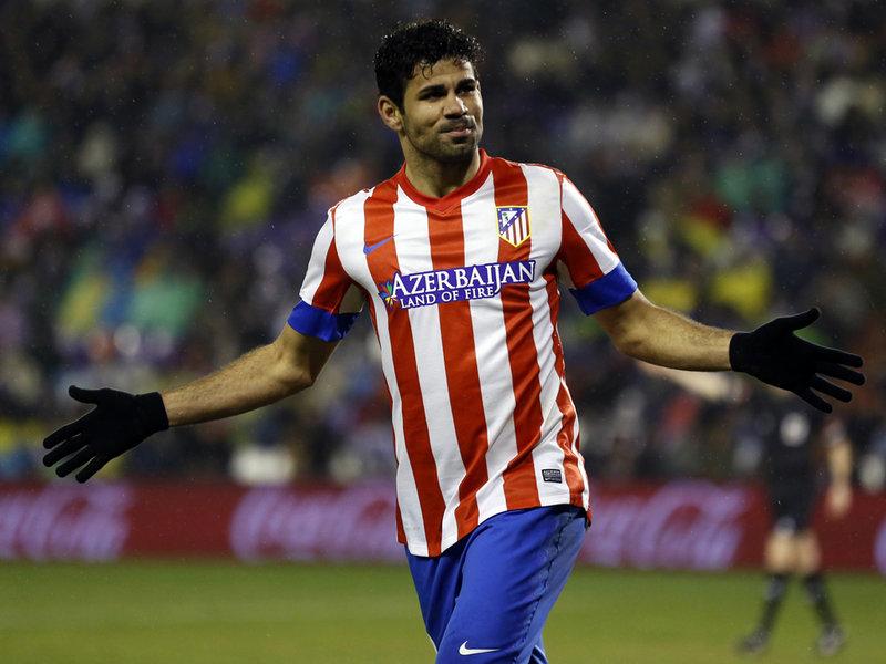 دييجو كستا بقميص اتلتيكو مدريد