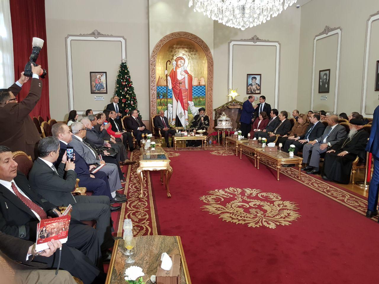 وفد مجلس النواب يهنئ البابا تواضروس بعيد الميلاد