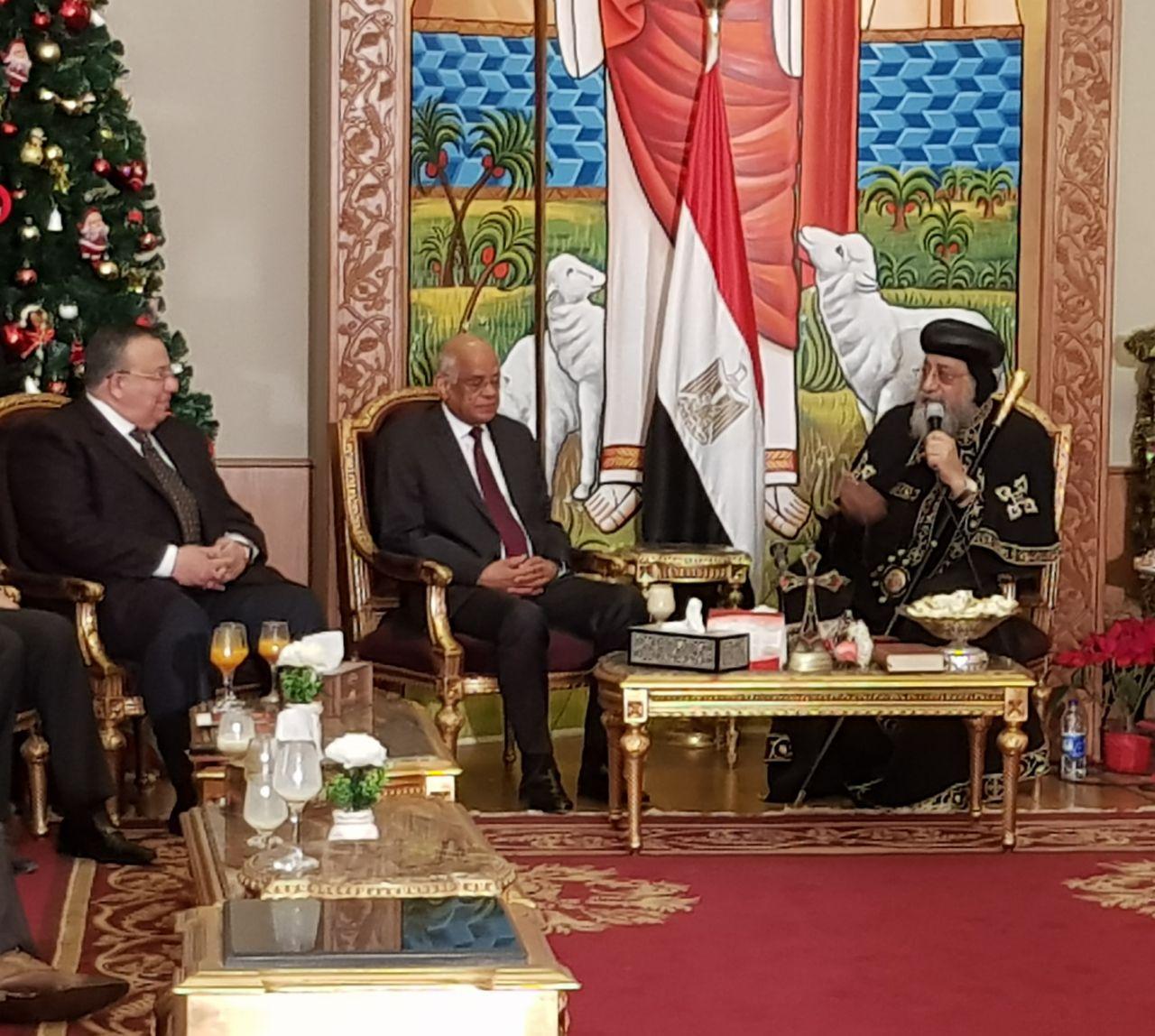 البابا تواضروس والدكتور على عبد العال رئيس مجلس النواب