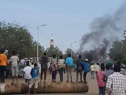 تظاهر العمال فى السودان