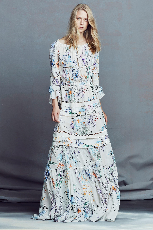 فستان منقوش