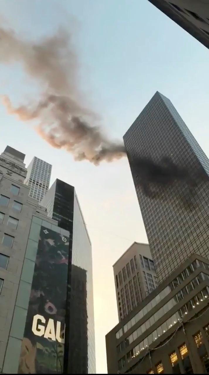 حريق فى أحد أبراج ترامب