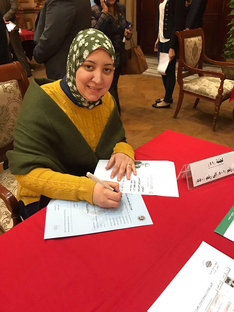 توقيع استمارة تزكية الرئيس السيسى