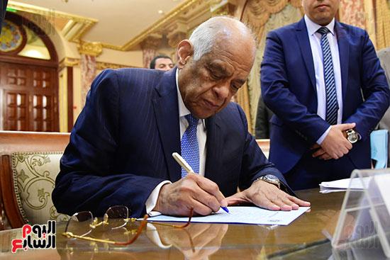 الدكتور على عبد العال رئيس البرلمان (4)