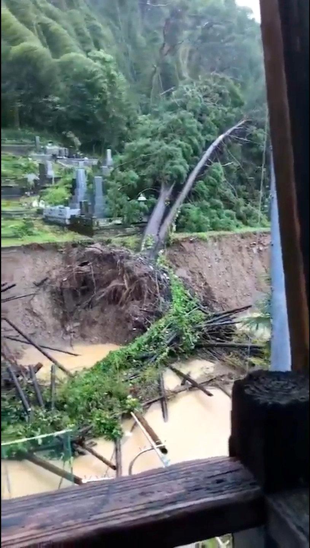 جانب من إعصار ترامى