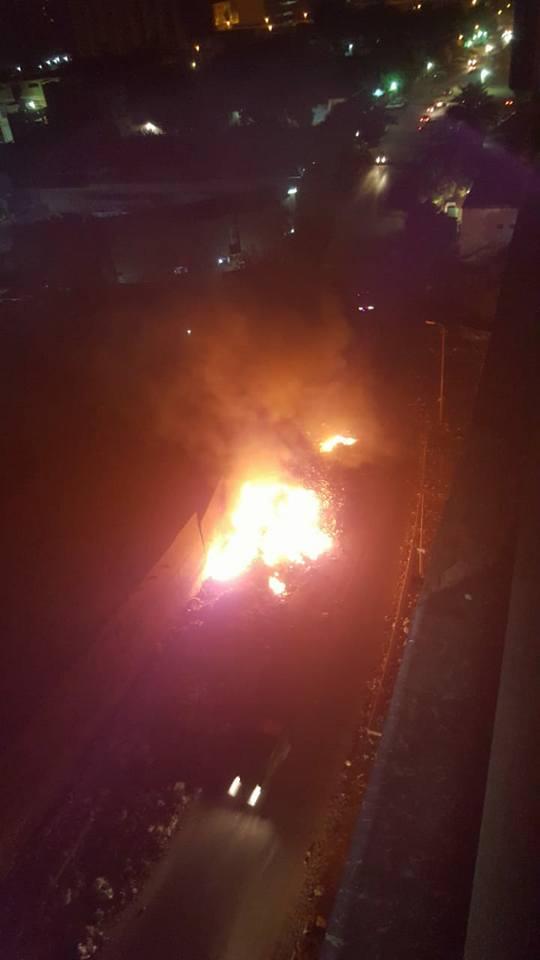 أهالى حى غرب شبرا الخيمة يستغيثون من حرائق القمامة (3)
