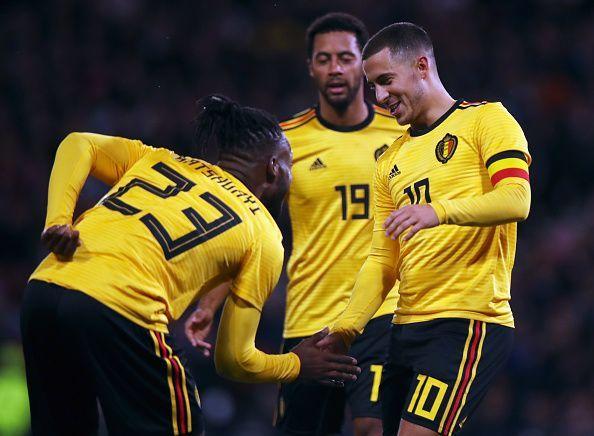 هازارد مع بلجيكا