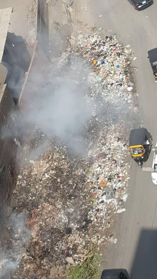 أهالى حى غرب شبرا الخيمة يستغيثون من حرائق القمامة (6)