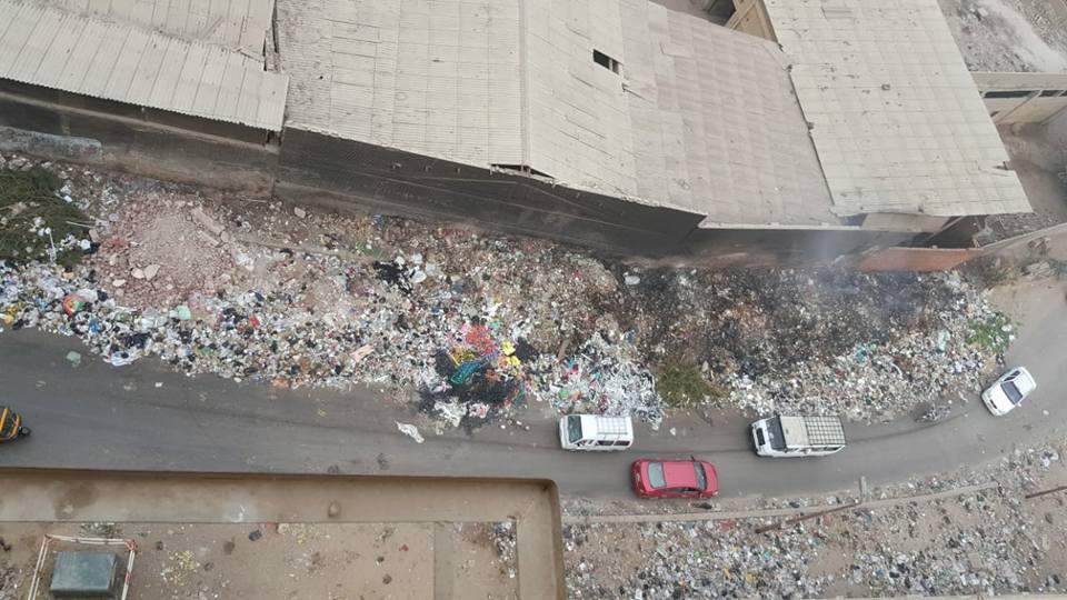 أهالى حى غرب شبرا الخيمة يستغيثون من حرائق القمامة (5)