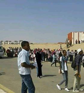 تدافع طلاب جامعة اسوان الجديدة على المواصلات (4)
