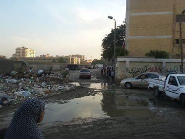 مياه الصرف تحاصر مدارس شبرا الخيمة