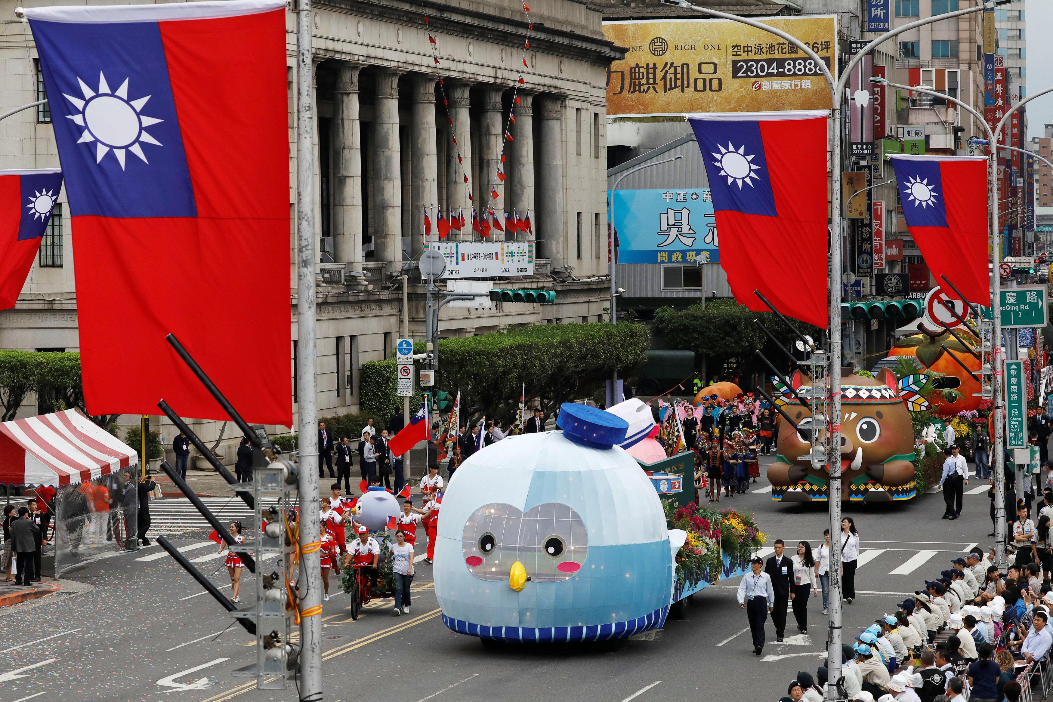 احتفالات بشوارع تايوان