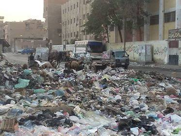 القمامة تحاصر مدارس شبرا الخيمه
