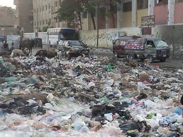 القمامه تحاصر مدارس شبرا الخيمة