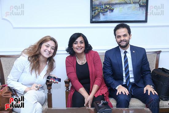 تكريم سميرة عبد العزيز بمهرجان المسرح الحر بجامعة عين شمس  (7)