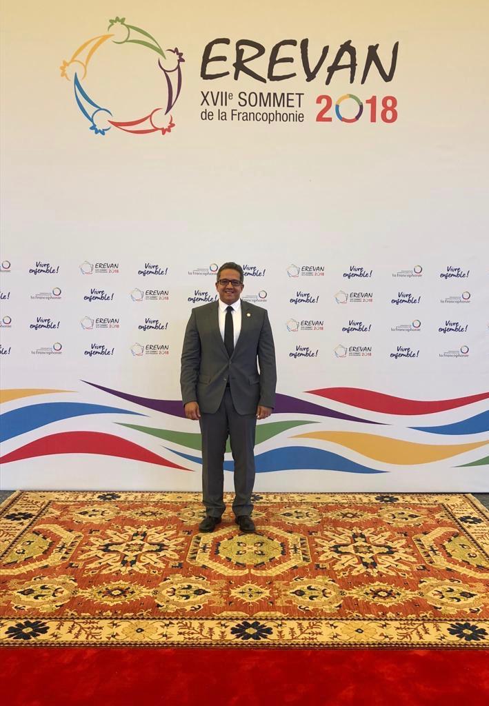 وزير الأثار ممثلا عن مصر فى افتتاح القمة الـ 17 للمنظمة الدولية للفرانكفونية  (2)