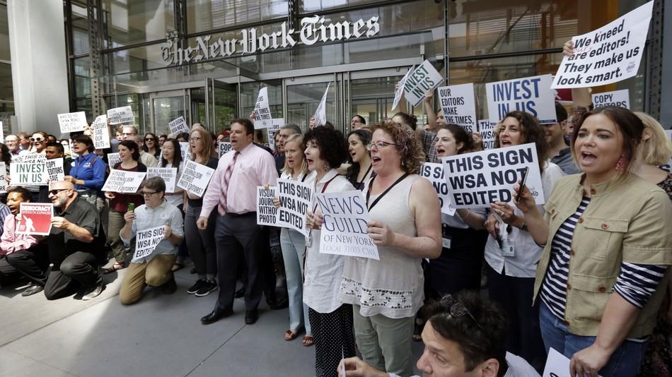 مظاهرة صحفيين نيويورك تايمز