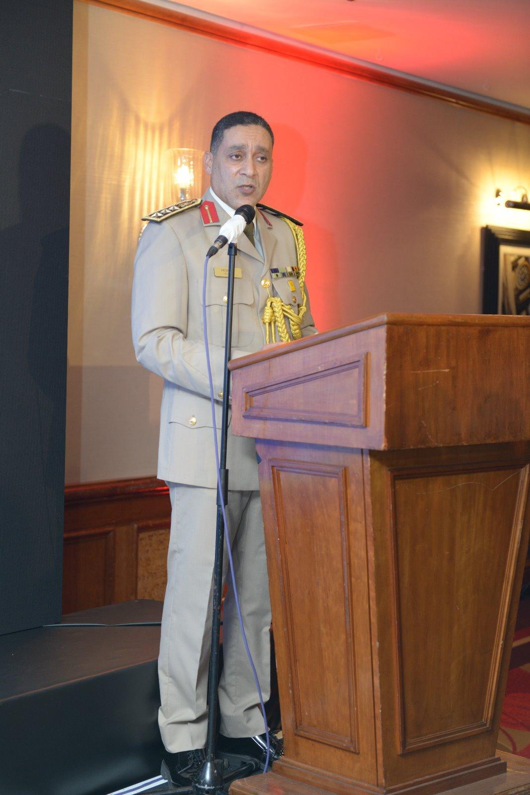 العميد هشام سلطان خلال القاء كلمته