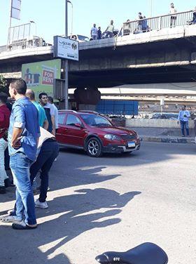 سقوط سيارة من اعلى كوبرى ناهيا  (3)