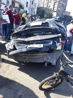 سقوط سيارة من اعلى كوبرى ناهيا  (2)