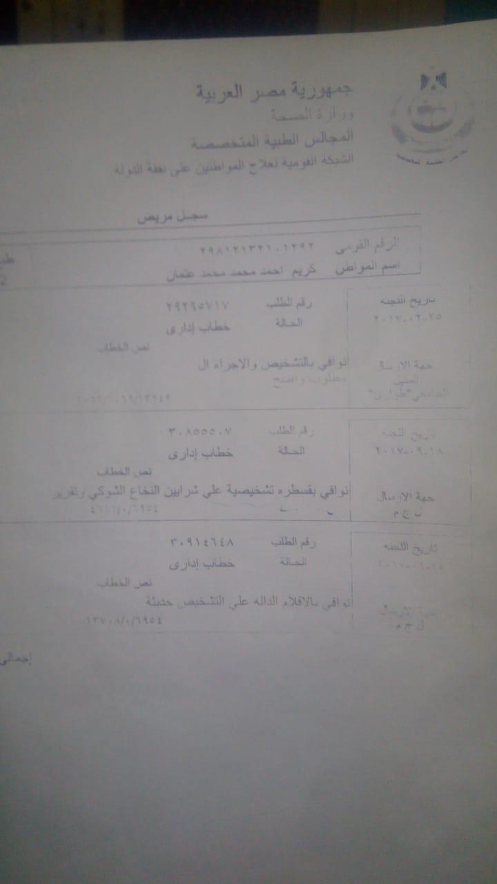 تقارير وشهادات طبية تثبت اصابة كريم  (4)