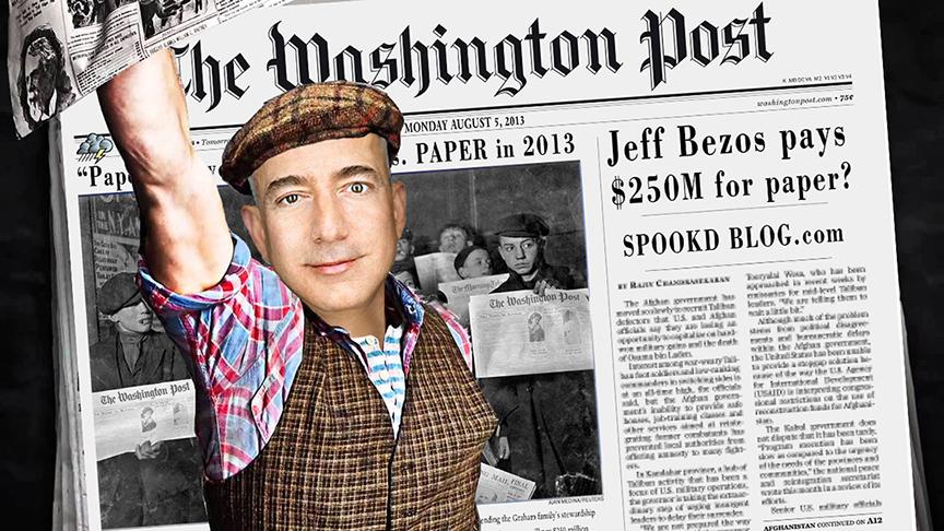 صور من حملة انتقادات شراء جيف بيزوس لواشنطن بوست