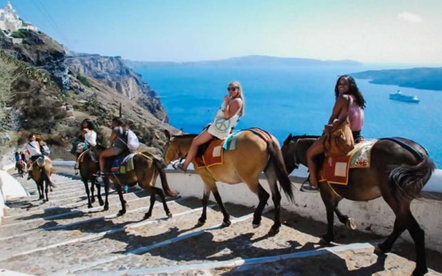 ركوب الحمير فى جزيرة سانتوريني