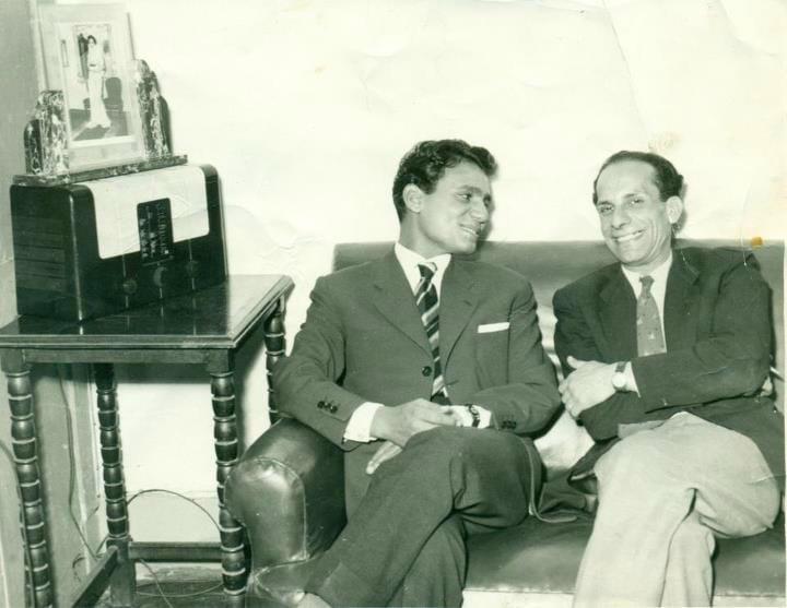 والد محمد صبحى مع عبد الحليم حافظ