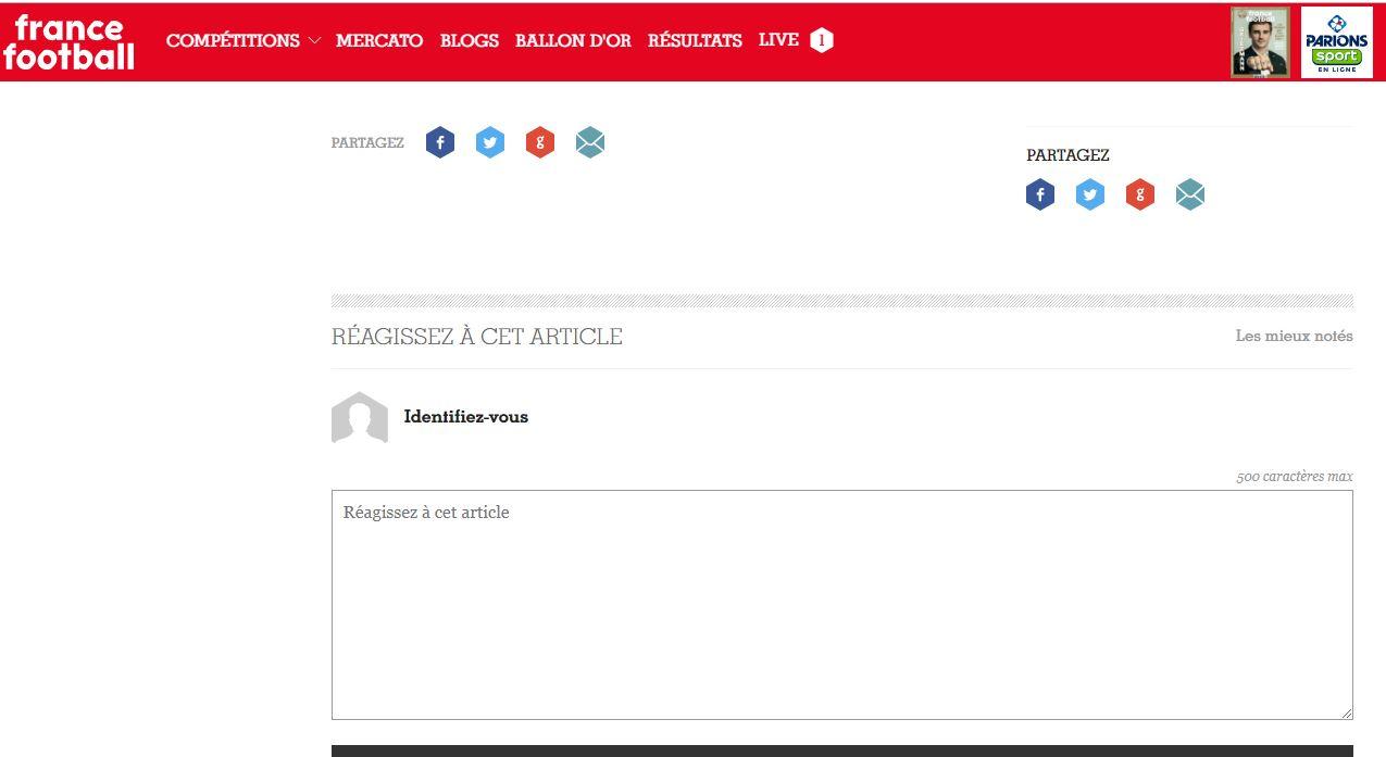 حذف استفتاء الكرة الذهبية على موقع فرانس فوتبول