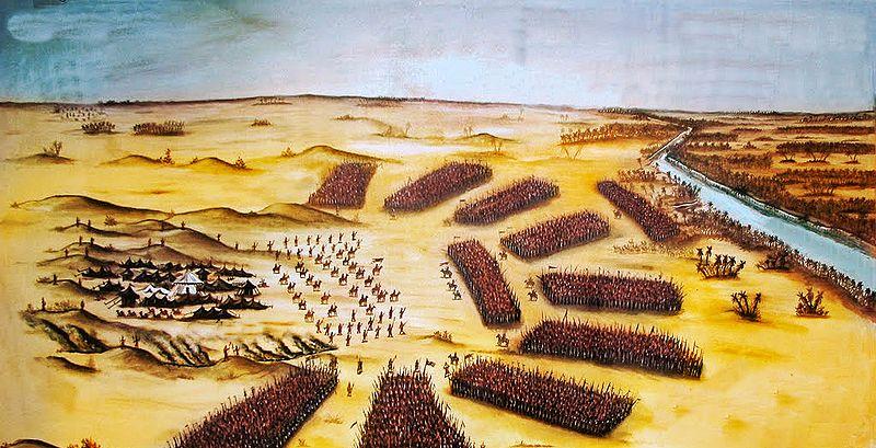 لوحة تصور معركة كربلاء