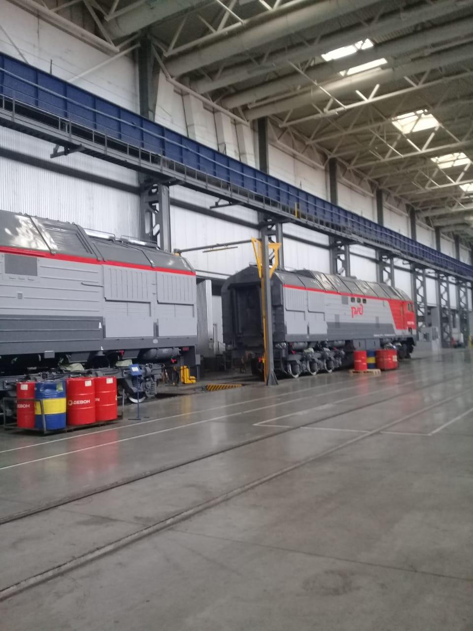 جولة لليوم السابع بمصنع جرارات السكة الحديد الروسى (2)