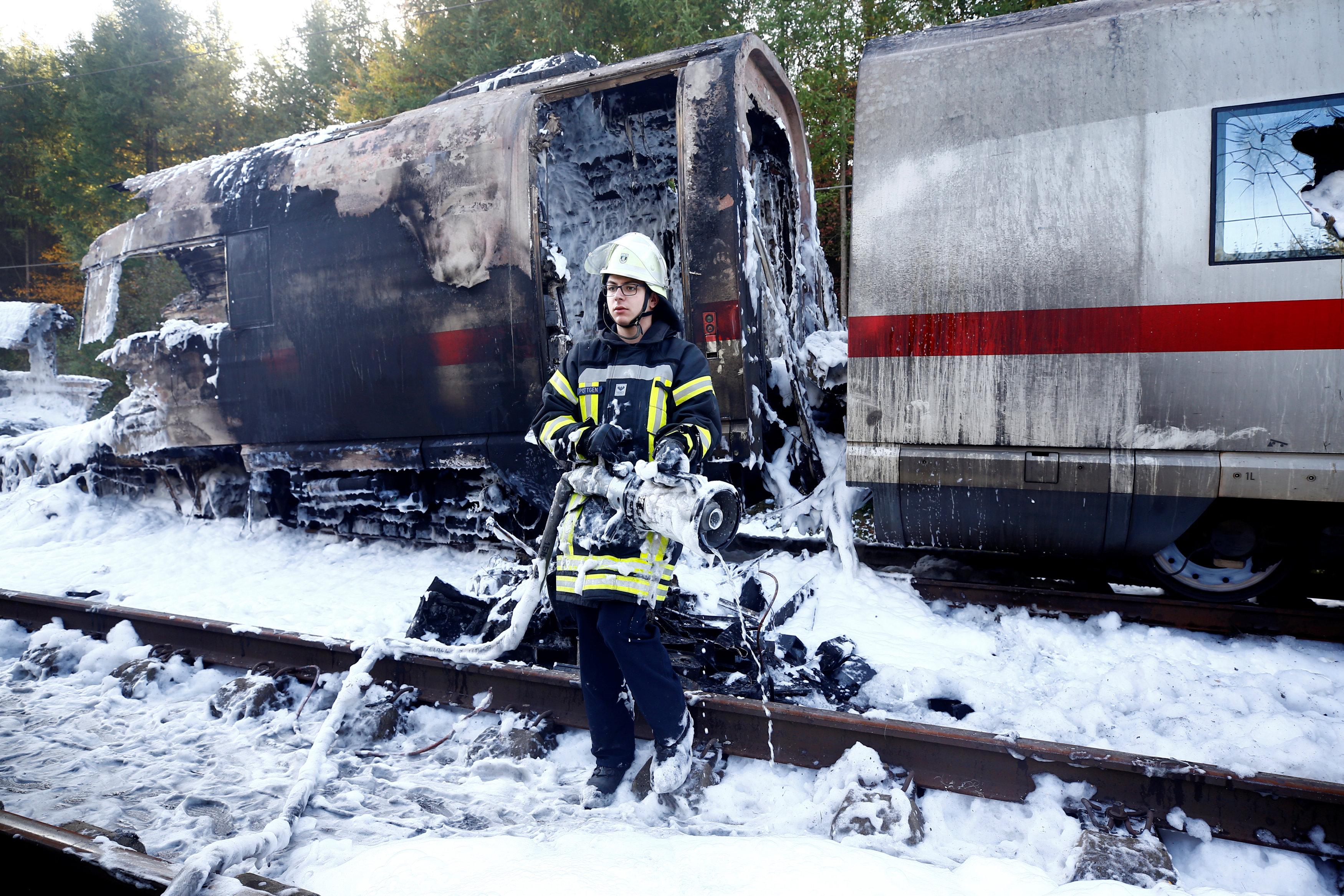 حريق قطار ألمانيا (3)