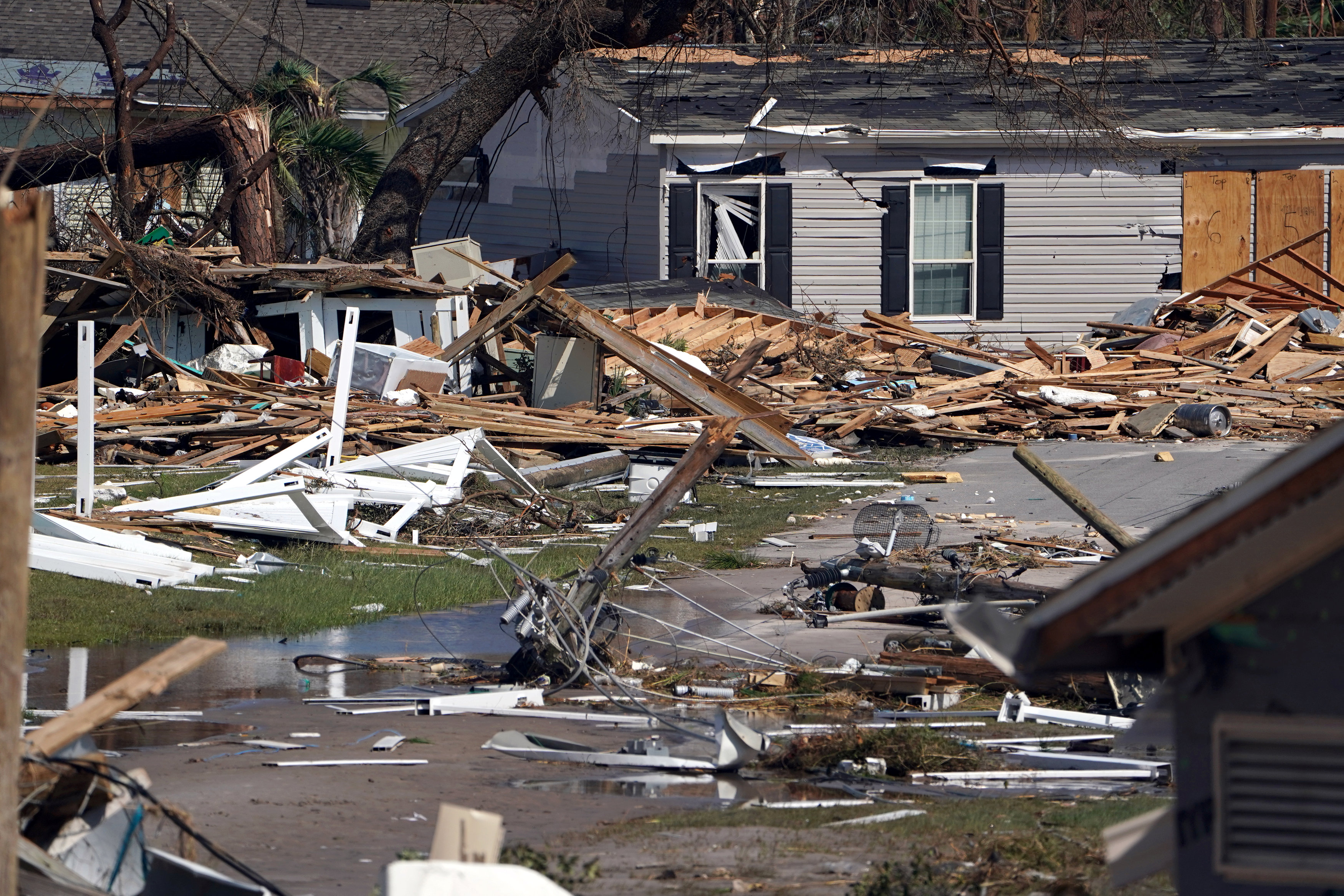 جانب من تضرر المنازل