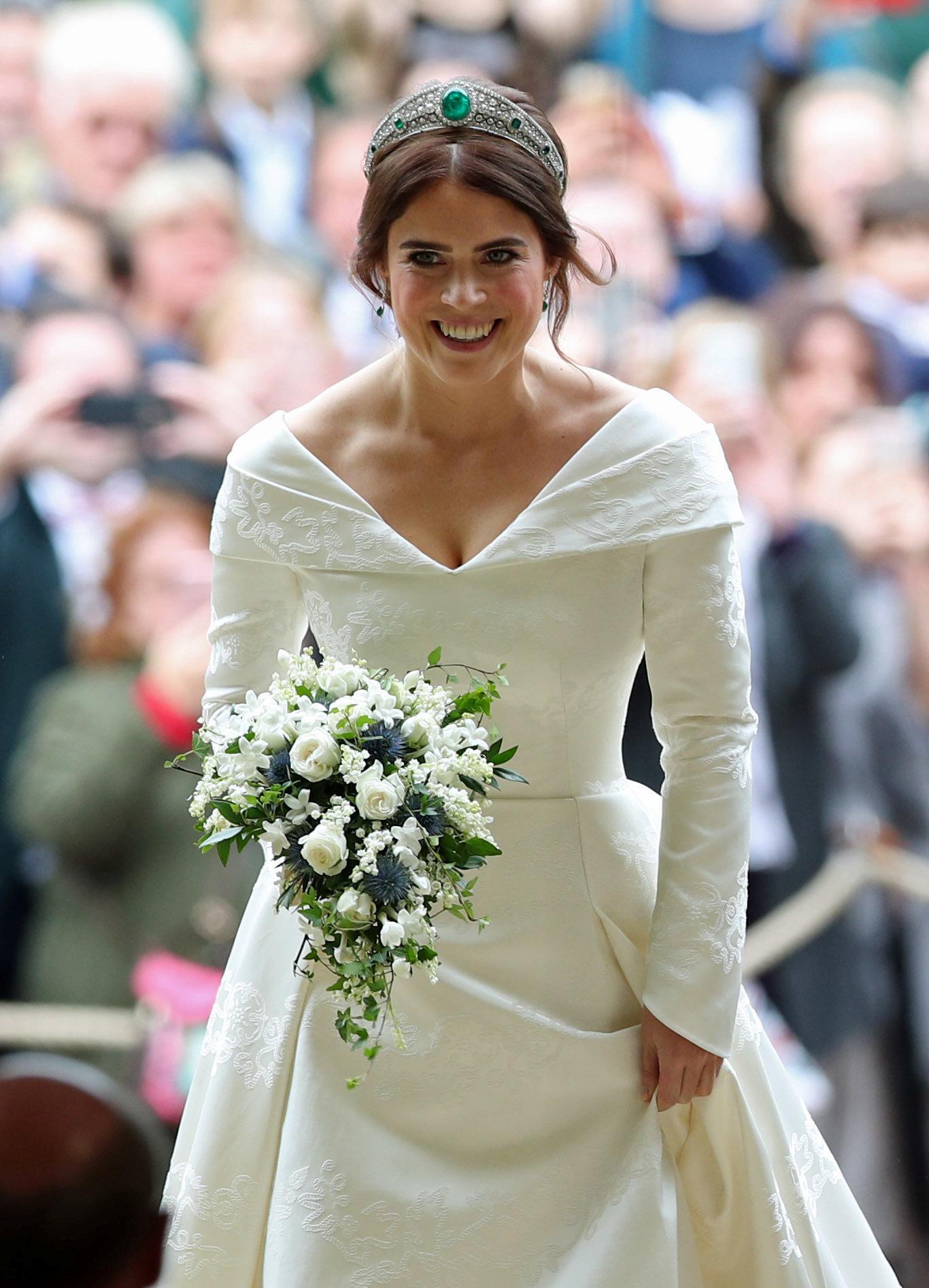 الأميرة يوجينى بفستان الزفاف