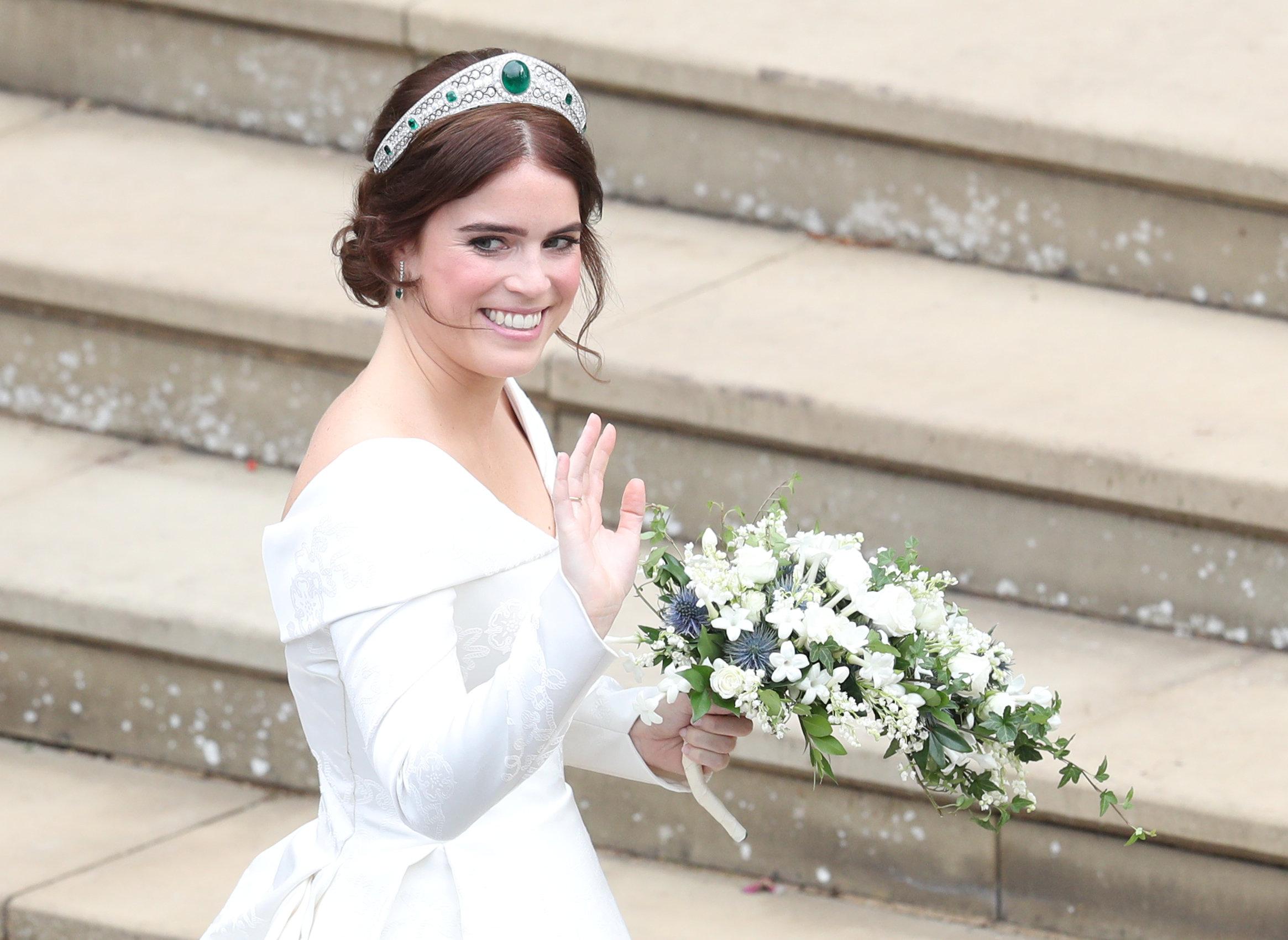 الأميرة يوجينى بفستان الزفاف (2)