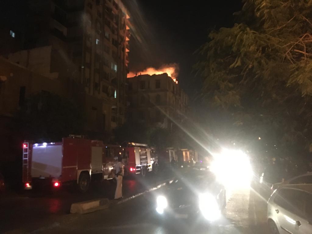 حريق هائل بعقار أمام مستشفى قصر العينى (7)