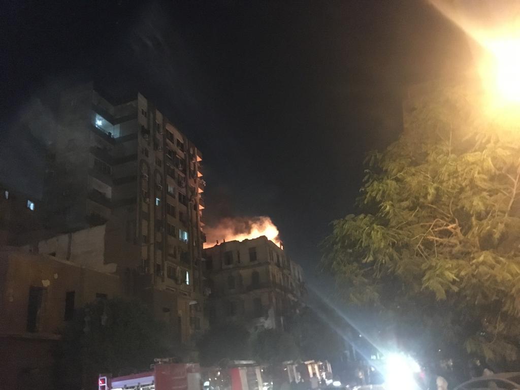 حريق هائل بعقار أمام مستشفى قصر العينى (6)
