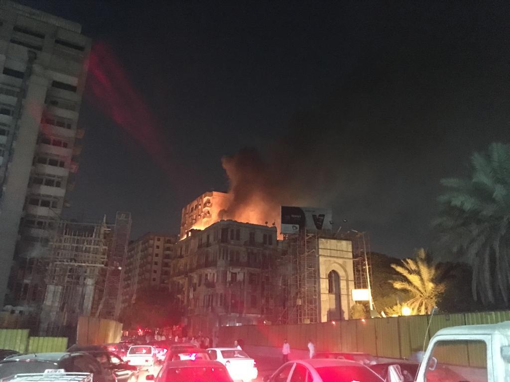 حريق هائل بعقار أمام مستشفى قصر العينى (5)