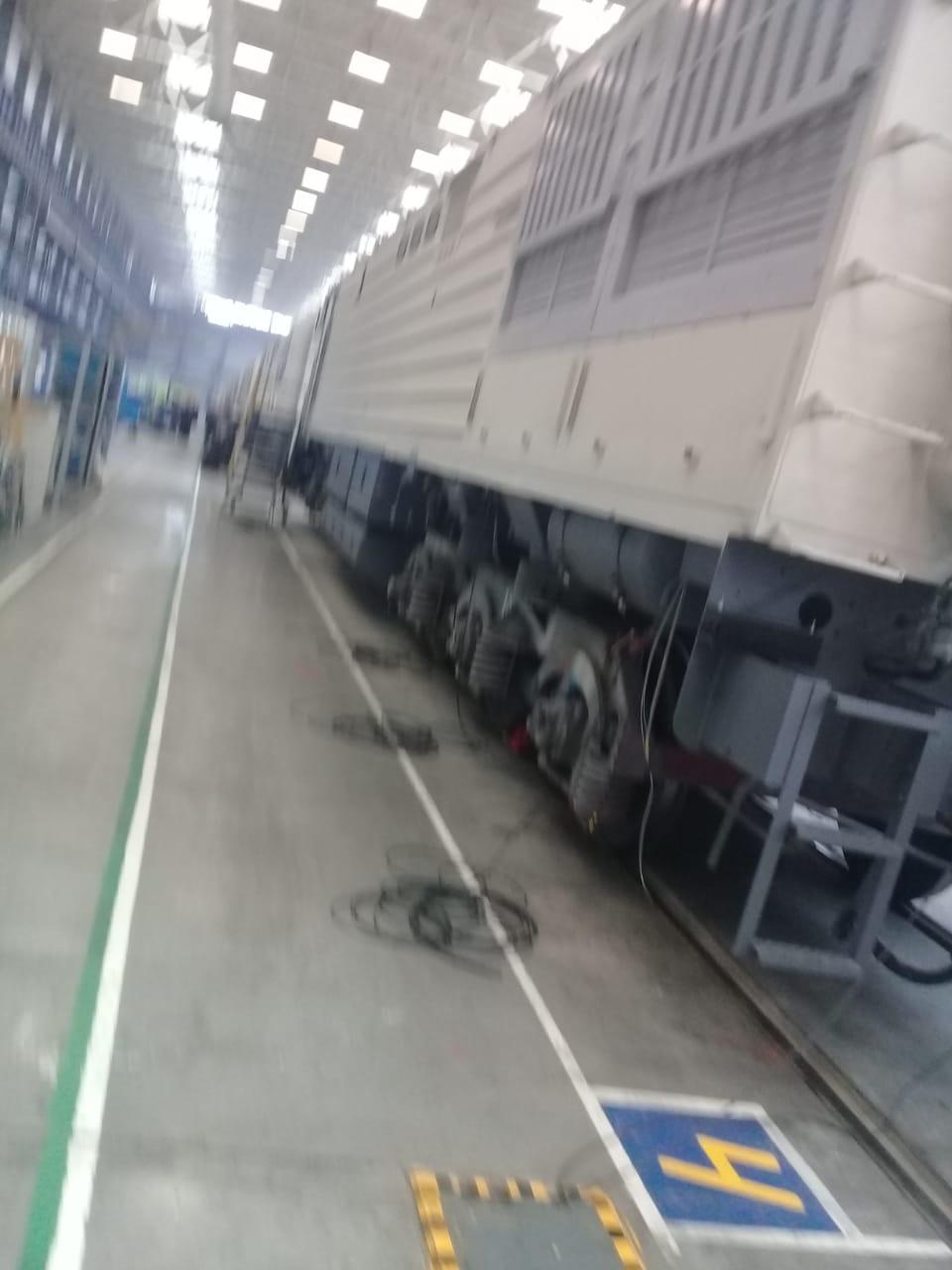 جولة لليوم السابع بمصنع جرارات السكة الحديد الروسى (7)