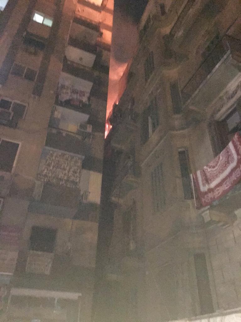 حريق هائل بعقار أمام مستشفى قصر العينى (4)