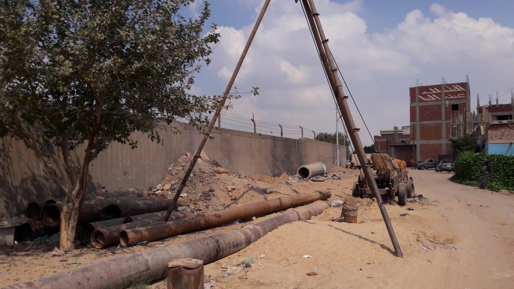 توقف مشروع الصرف الصحى بقرية الحجاز فى الإسماعيلية