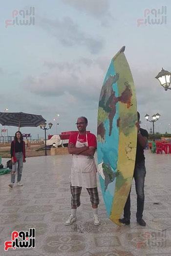 42 فنانا تشكيليا يبدعون لتوعية بخطورة الهجرة غير الشرعية بكفر الشيخ (4)