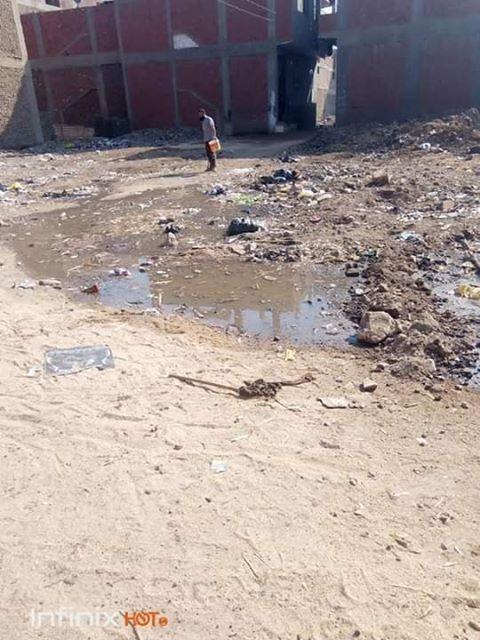 غرق الشوارع  بمياة الصرف الصحى