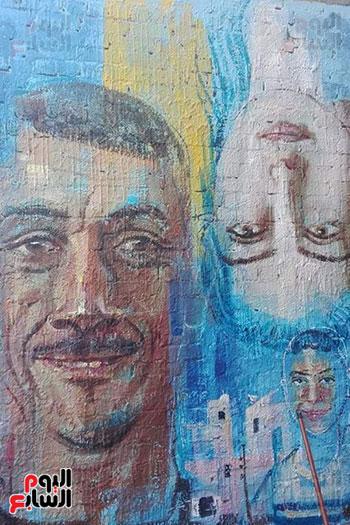 42 فنانا تشكيليا يبدعون لتوعية بخطورة الهجرة غير الشرعية بكفر الشيخ (8)