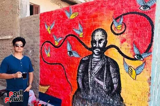 42 فنانا تشكيليا يبدعون لتوعية بخطورة الهجرة غير الشرعية بكفر الشيخ (5)