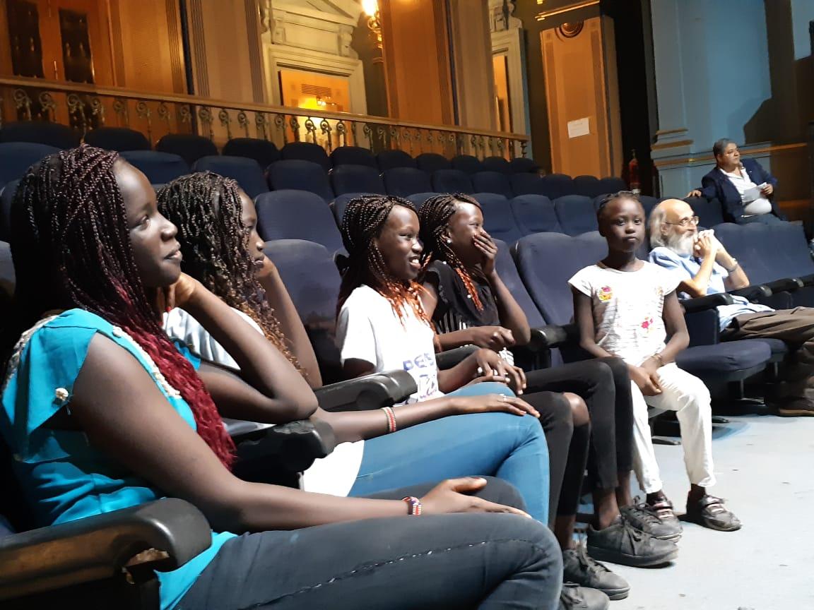 نادي السينما الافريقية وجمهور من جنوب السودان