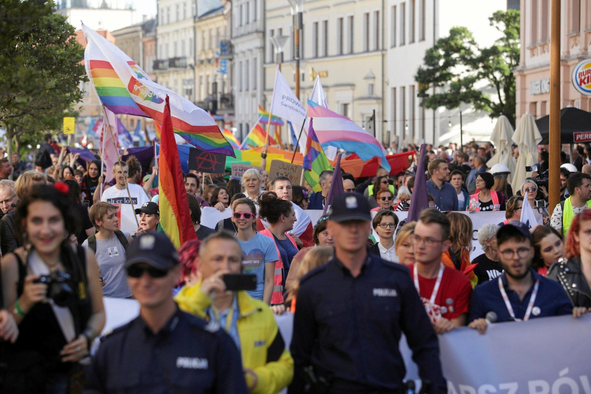 مسيرة فى بولندا