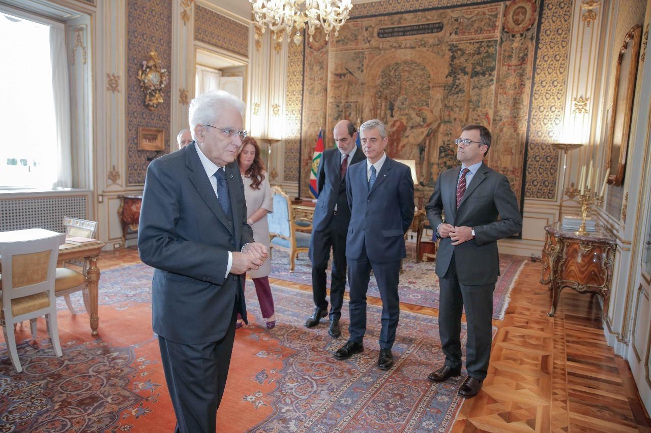 لقاء شيخ الازهر مع الرئيس الايطالى (4)